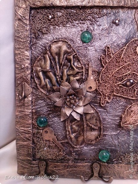 Моя повторюшка по мотивам ключницы Людмилы Горбенко http://stranamasterov.ru/node/881631?c=favorite  ...  так же красиво выполнить работу у меня , конечно , не получилось... но что вышло...  (пока повторяю... уж очень хочется научиться создавать такие же шедевры!!!!) фото 2