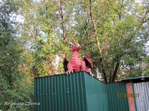 Вот такой красавец теперь охраняет школьный двор.(Высота в районе головы - 1,5 метра) фото 10
