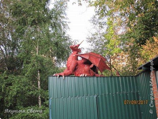 Вот такой красавец теперь охраняет школьный двор.(Высота в районе головы - 1,5 метра) фото 1