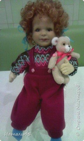 Здравствуйте, дорогие жители Страны мастеров. Давненько я здесь не была. Хочу вам рассказать историю реставрации маленькой куклы Маруси. фото 12