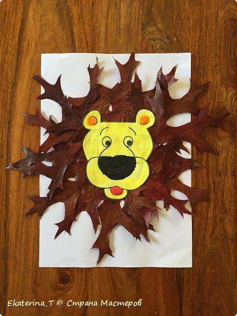Делали вот по этому МК - http://playwithmom.ru/tvorchestvo-s-detmi/applikacii/osennij-lev/ Там же и шаблон мордочки льва.