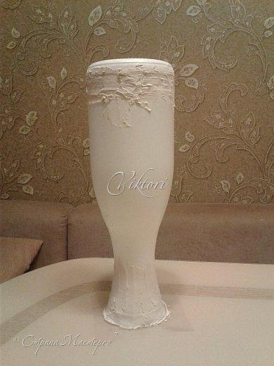 Добрый день Страна! Выкладываю мастер-класс по изготовлению вазы из бутылки. фото 6