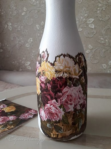 Добрый день Страна! Выкладываю мастер-класс по изготовлению вазы из бутылки. фото 19