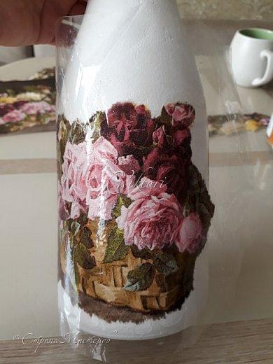 Добрый день Страна! Выкладываю мастер-класс по изготовлению вазы из бутылки. фото 18