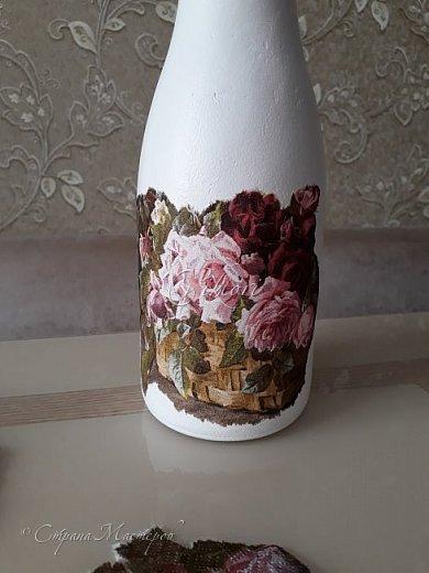 Добрый день Страна! Выкладываю мастер-класс по изготовлению вазы из бутылки. фото 22
