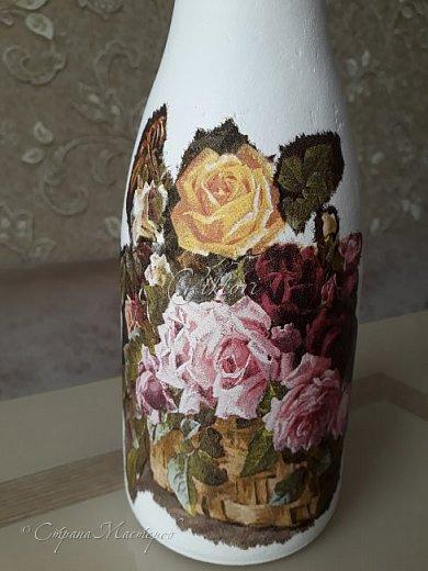 Добрый день Страна! Выкладываю мастер-класс по изготовлению вазы из бутылки. фото 23