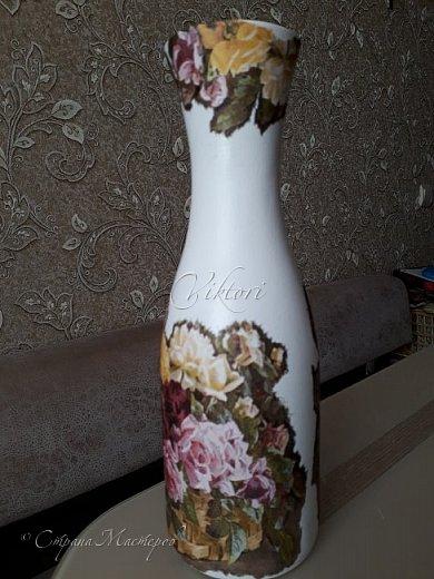 Добрый день Страна! Выкладываю мастер-класс по изготовлению вазы из бутылки. фото 26