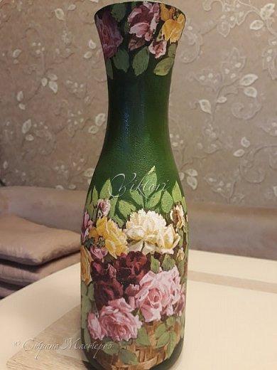 Добрый день Страна! Выкладываю мастер-класс по изготовлению вазы из бутылки. фото 30
