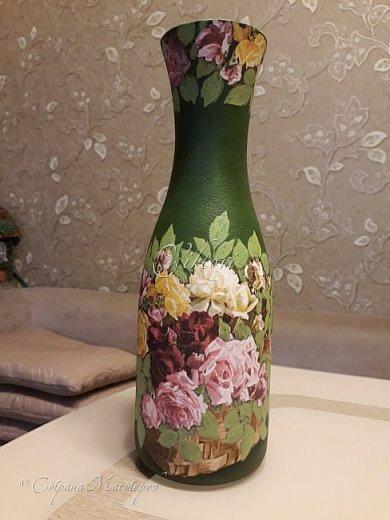 Добрый день Страна! Выкладываю мастер-класс по изготовлению вазы из бутылки. фото 29