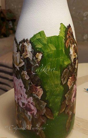 Добрый день Страна! Выкладываю мастер-класс по изготовлению вазы из бутылки. фото 27