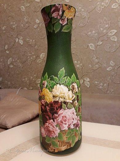 Добрый день Страна! Выкладываю мастер-класс по изготовлению вазы из бутылки. фото 31