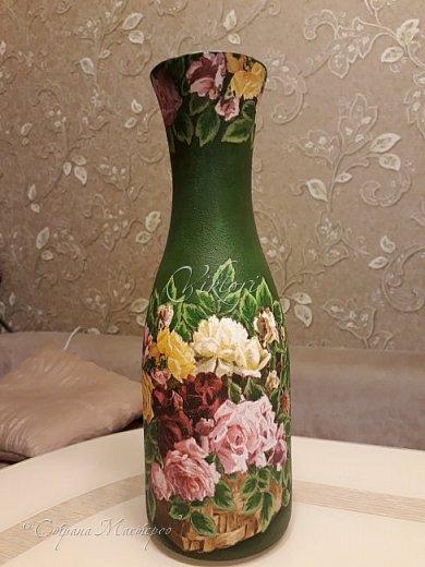 Добрый день Страна! Выкладываю мастер-класс по изготовлению вазы из бутылки. фото 32