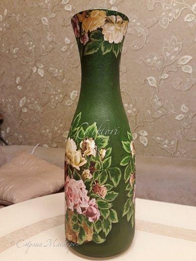 Добрый день Страна! Выкладываю мастер-класс по изготовлению вазы из бутылки. фото 33
