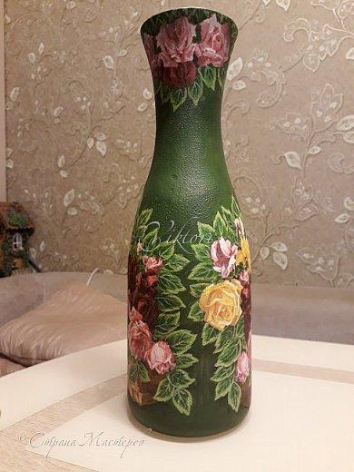 Добрый день Страна! Выкладываю мастер-класс по изготовлению вазы из бутылки. фото 37
