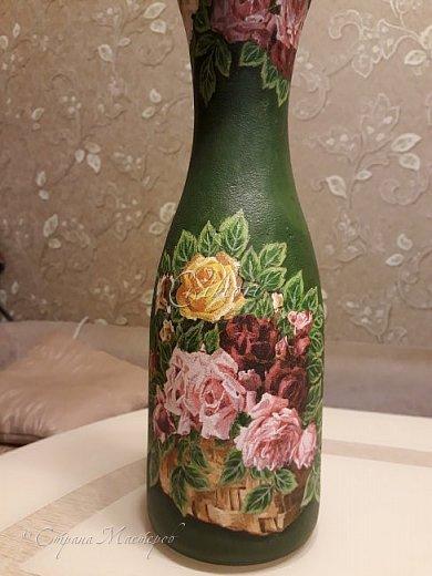Добрый день Страна! Выкладываю мастер-класс по изготовлению вазы из бутылки. фото 36