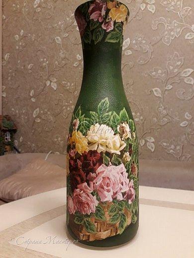 Добрый день Страна! Выкладываю мастер-класс по изготовлению вазы из бутылки. фото 38