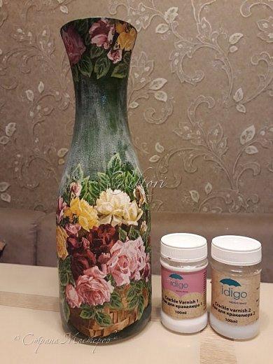 Добрый день Страна! Выкладываю мастер-класс по изготовлению вазы из бутылки. фото 39