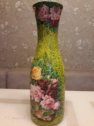 Добрый день Страна! Выкладываю мастер-класс по изготовлению вазы из бутылки. фото 41