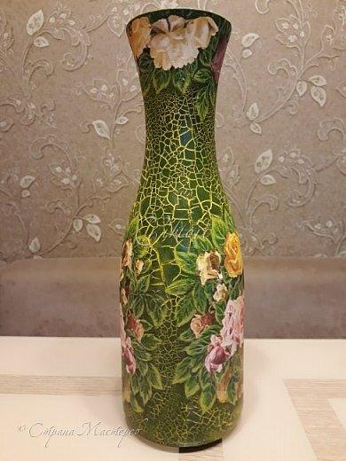 Добрый день Страна! Выкладываю мастер-класс по изготовлению вазы из бутылки. фото 42