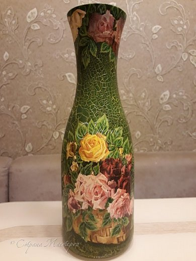Добрый день Страна! Выкладываю мастер-класс по изготовлению вазы из бутылки. фото 44