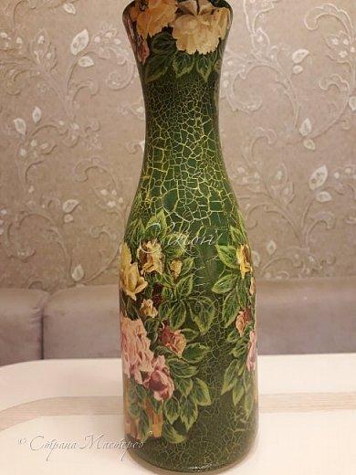 Добрый день Страна! Выкладываю мастер-класс по изготовлению вазы из бутылки. фото 43