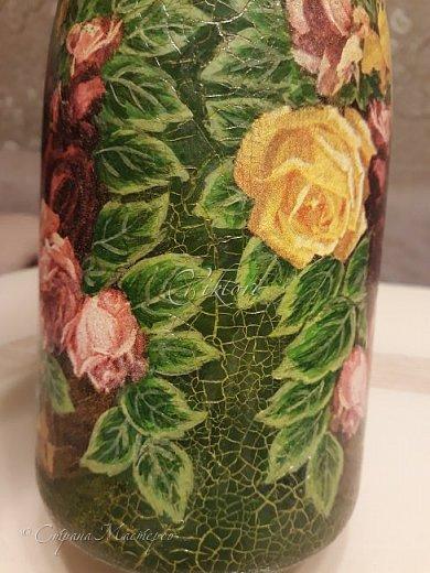Добрый день Страна! Выкладываю мастер-класс по изготовлению вазы из бутылки. фото 45