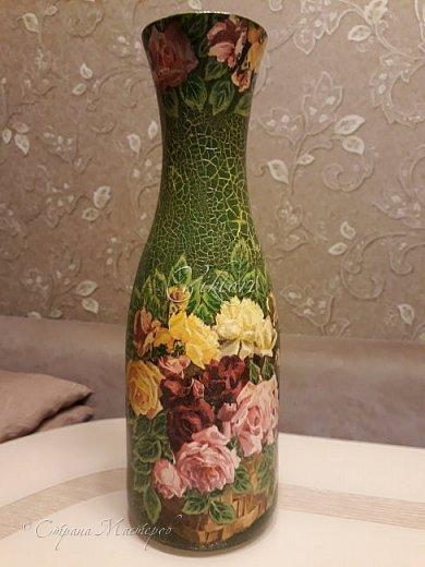 Добрый день Страна! Выкладываю мастер-класс по изготовлению вазы из бутылки. фото 47
