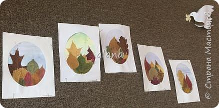 Какая красивая в этом году золотая осень!  Какое разнообразие цветовой гаммы! Столько красивых листьев, что мимо не пройти - хочется разглядеть необычность каждого. Хочу показать вам результат нашей работы с засушенными листьями фото 1