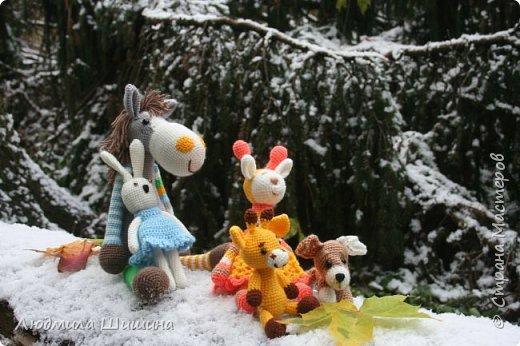 Всем добрый день! Вот мои новые игрушки. У нас выпал первый снежок и вот воспользовалась этим. фото 1