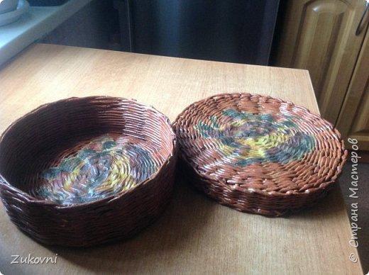 Короб 1 ( шкатулка под нитки)  газетное плетение фото 2