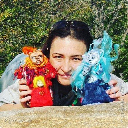 Красивая осень - время клеить смешные шляпки из цветов и шишек и идти гулять с куклами. На фото я и мои малыши.  Для тех кто со мной не знаком. Я Лариса.живу в Алматы.Люблю и делаю кукол. фото 3