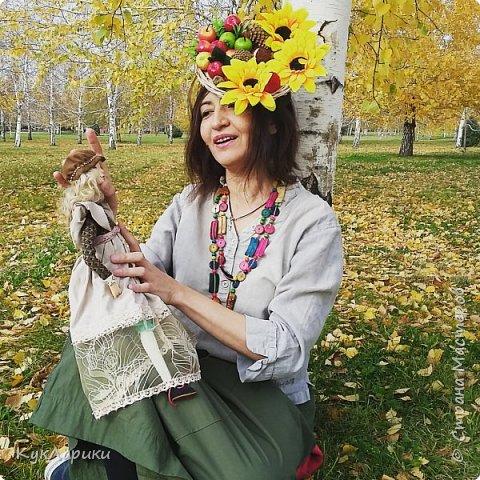 Красивая осень - время клеить смешные шляпки из цветов и шишек и идти гулять с куклами. На фото я и мои малыши.  Для тех кто со мной не знаком. Я Лариса.живу в Алматы.Люблю и делаю кукол. фото 1