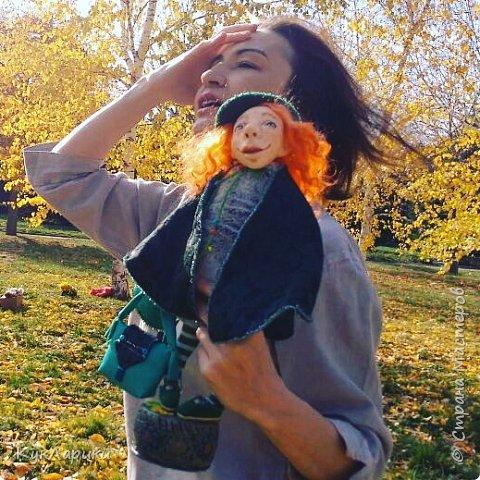 Красивая осень - время клеить смешные шляпки из цветов и шишек и идти гулять с куклами. На фото я и мои малыши.  Для тех кто со мной не знаком. Я Лариса.живу в Алматы.Люблю и делаю кукол. фото 5
