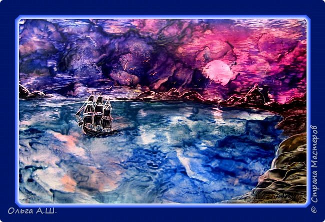 """""""Горное озеро."""" А3 фото 3"""