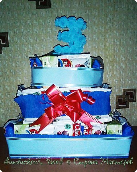 Добрый вечер,Страна! Вот какой тортик сотворился у меня для угощения деток в садик на дочкин день рождения фото 1
