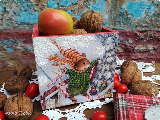 """короб-подсвечник """"Christmas holidays"""" фото 1"""