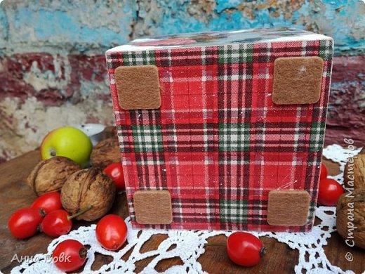 """короб-подсвечник """"Christmas holidays"""" фото 5"""
