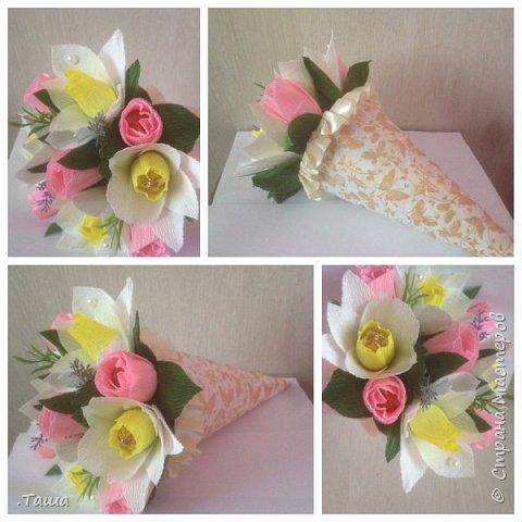 Нежный весенний букетик, заказывала дочь на день рождения своей матери фото 1