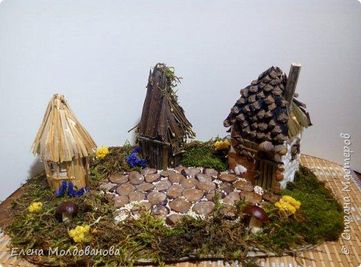 Павлины сделаны из шишек, камыша, высушенных цветов, мха и сухоцветов фото 20