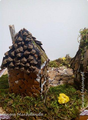 Павлины сделаны из шишек, камыша, высушенных цветов, мха и сухоцветов фото 26