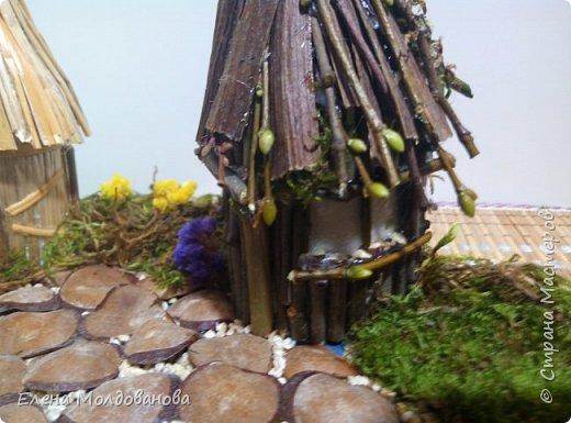 Павлины сделаны из шишек, камыша, высушенных цветов, мха и сухоцветов фото 23