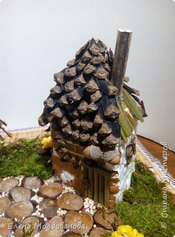 Павлины сделаны из шишек, камыша, высушенных цветов, мха и сухоцветов фото 24