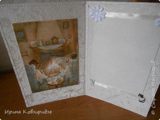 Выполнила заказ на открытку к 30-летней годовщине со дня свадьбы- Жемчужная свадьба. Вот что получилось. Жемчуг присутствует. фото 2