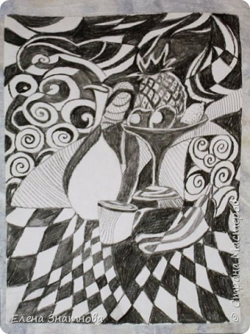 Здравствуйте! Попробуйте графику. Перед вами, чёрно-белый рисунок, но он может быть по вашему желанию и другим. Своим ученикам я предлагала разные варианты. Например, можно изобразить времена года, тогда деревья будут трёх цветов (голубым. зелёным, жёлтым) или другого цвета, вместо чёрного и белого, так же выбрать можно выбрать, чем рисовать. Этот рисунок выполнен тушью. Для этого пригодятся специальная ручка с перьями для туши. Могу заверить. если нарисовано с желанием и аккуратно, в любом из преложанных вариантов, выглядит очень красиво. Целью работы в этом рисунке служат два этапа, в которых меняется фон с объектом. Пусть деревья будут немного покорявее, выводите линии, свободно, произвольно. Набиваейте руку рисовать без усилия и нажима. Запомните, эскиз должен быть слабо нанесён карандашом на бумагу так, чтобы при раскрашивании его не было видно. фото 3