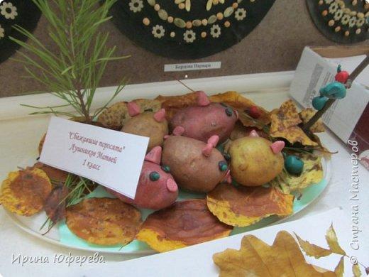 Традиционный школьный осенний балл состоялся 20 октября 2017 года. Наш класс представил свои работы: блюдо из овощей, поделка из овощей, костюм осени. И еще мы исполняли песню про осень. Когда только успеваем учиться? фото 3