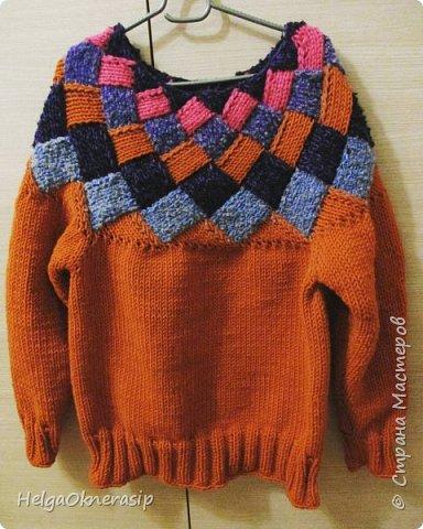 Вязаный свитер, энтерлак