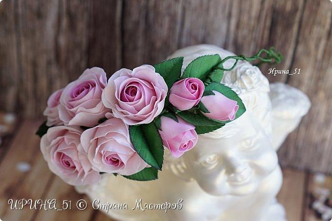 Веночки с цветами из фоамирана для девочек, девушек, женщин...  фото 1