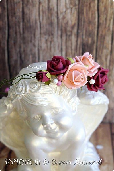 Веночки с цветами из фоамирана для девочек, девушек, женщин...  фото 3