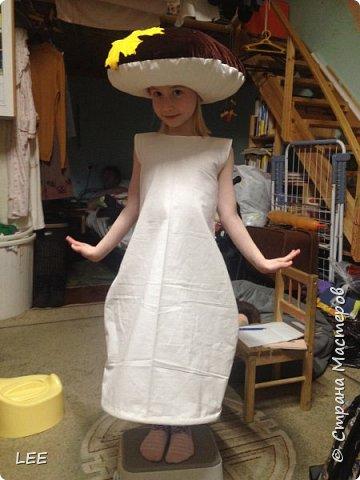 Добрый день, дорогие мастера и мастерицы, а так же любознательные! По материалу  Юли Гуденко ( http://stranamasterov.ru/node/436536 ) сшила шляпку. Спасибо, Юля за МК! Платье-ножку придумывала сама. Я не швея, могу только по прямой (хи-хи), но я очень хочу чтоб моя детвора на праздниках была в красивых костюмах. Модель - Надюшка, но костюм шился для младшей дочки Доминики. Завтра у неё праздник Осени. фото 1