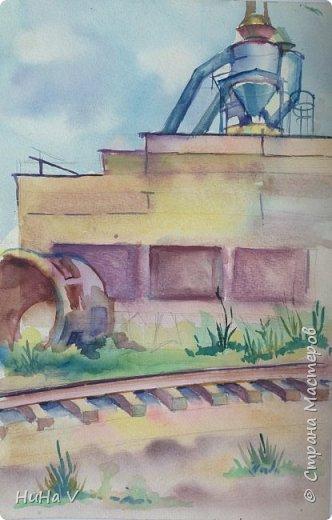 Мои работы в акварели, выполнены на пленэре ещё во времена обучения в колледже фото 3